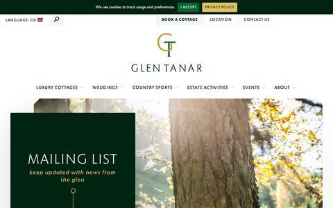 Screenshot of Signup Page glentanar.co.uk - Signup - captured Aug. 6, 2017