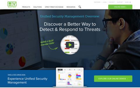 AlienVault Unified Security Management (USM) Platform