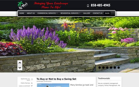 Screenshot of Blog leperv.com - San Diego Landscaping Blog | Le Perv Landscape - captured Oct. 2, 2014