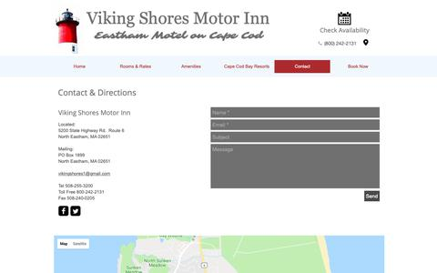 Screenshot of Contact Page Maps & Directions Page vikingshores.com - Viking Shores Motor Inn| Cape Cod| Chamber of Commerce| Hotel - captured Oct. 22, 2018