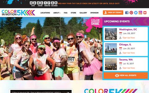 Screenshot of Home Page colorinmotion5k.com - Color In Motion 5K | Experience The Color Of Fun - captured May 19, 2017