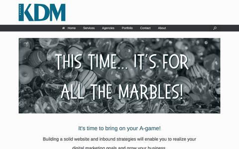 Screenshot of Home Page keenerdigitalmarketing.com - Keener Digital Marketing   Bringing technology and people together. - captured Oct. 17, 2019