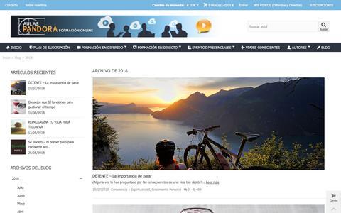 Screenshot of Blog aulaspandora.com - Archive for 2018 - Aulas Pandora - captured Oct. 19, 2018