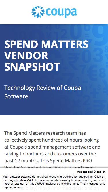 Technology Review of Coupa Software | Spend Matters PRO Vendor Snapshot  | Coupa Software