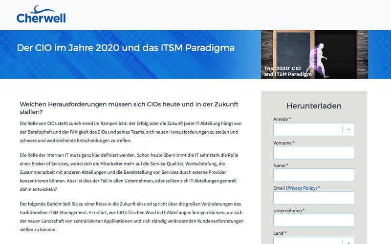 Whitepaper | Der CIO im Jahre 2020 und das ITSM Paradigma