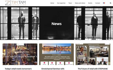 Screenshot of Press Page timtamconsulting.com - News – Tim Tam Consulting - captured Sept. 21, 2018