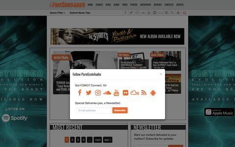Screenshot of Home Page puregrainaudio.com - PureGrainAudio.com | Music & Pop Culture Experts - captured Nov. 5, 2018