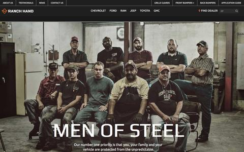 Screenshot of About Page ranchhand.com - About Us | Ranch Hand Truck Accessories - captured Nov. 29, 2016