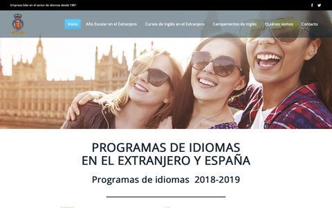 Screenshot of Home Page kingsinternational.es - CURSOS de INGLES en el EXTRANJERO, CURSOS DE IDIOMAS en el EXTRANJERO, CAMPAMENTOS INGLES - captured Dec. 1, 2018