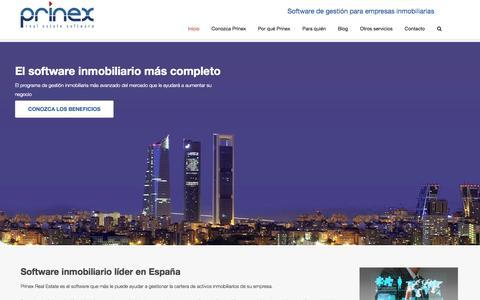 Screenshot of Home Page prinex.es - Software inmobiliario líder en España - Prinex Real Estate - - captured Oct. 3, 2014