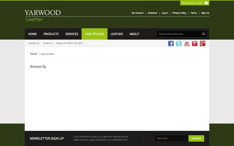Screenshot of Case Studies Page yarwoodleather.com - Case Studies - captured Oct. 10, 2014