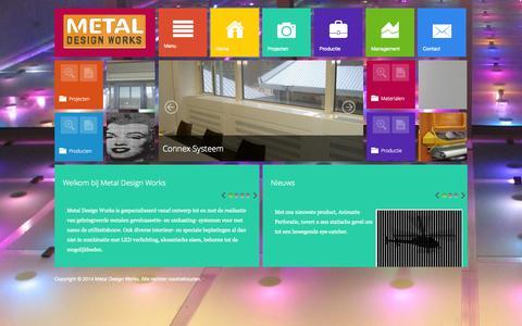 Screenshot of Home Page metaldesignworks.nl - Metal Design Works - Home - captured Oct. 2, 2014