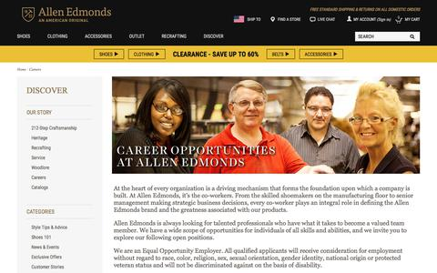Screenshot of Jobs Page allenedmonds.com - Careers - captured Jan. 18, 2018