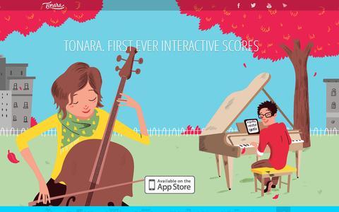 Screenshot of Home Page tonara.com - Tonara  » First Interactive Digital Sheet Music app - captured July 11, 2014