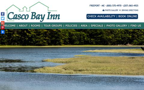 Screenshot of Contact Page Maps & Directions Page cascobayinn.com - FindFind Comfortable Lodging at Casco Bay Inn in Southern Coastal Maine - captured July 3, 2018