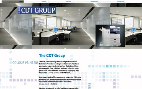Screenshot of Home Page cdt-group.com - CDT Group Ltd - captured Oct. 2, 2014
