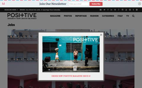 Screenshot of Jobs Page positive-magazine.com - Jobs - Positive Magazine - captured Nov. 28, 2016