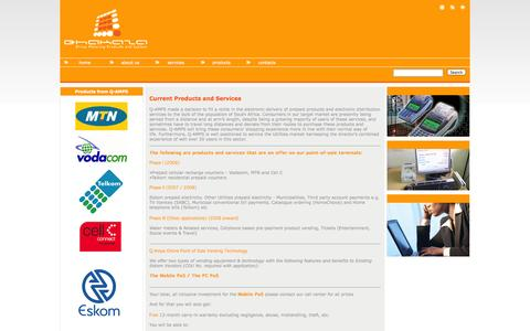 Screenshot of Products Page qhakaza.co.za - products - captured Oct. 2, 2014