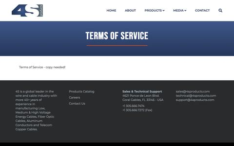 Screenshot of Terms Page 4sproducts.com - Terms of Service | 4S Products - captured Nov. 18, 2018