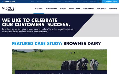 Screenshot of Case Studies Page vocus.com.au - Case Studies | Vocus Communications - captured July 9, 2016