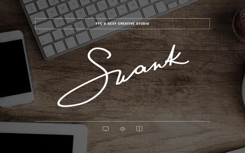 Screenshot of Home Page swankmedia.ca - Calgary Web Design, Digital Marketing & Graphic Design - Swank Media Inc. - Calgary's Sexy Creative Studio - captured Oct. 9, 2015