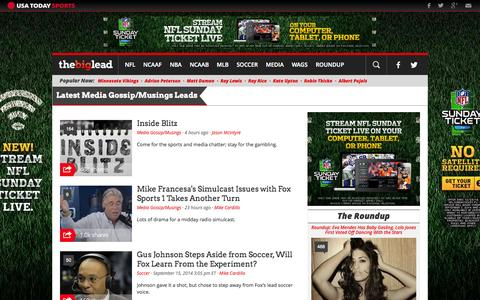 Screenshot of Press Page thebiglead.com - Media Gossip/Musings | The Big Lead - captured Sept. 18, 2014