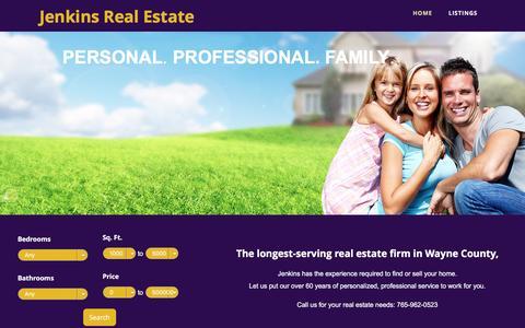 Screenshot of Home Page jenkins-homes.com - Jenkins Real Estate - captured April 26, 2017