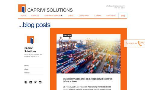 Screenshot of Blog caprivisolutions.com - CapEx Software | BlogCaprivi Solutions - captured July 8, 2018