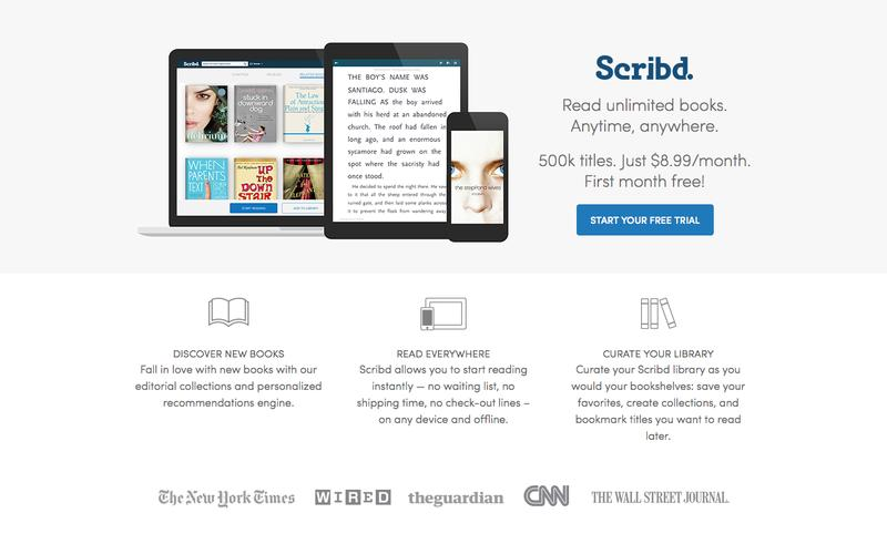 Read unlimited books. Anytime, anywhere   Scribd