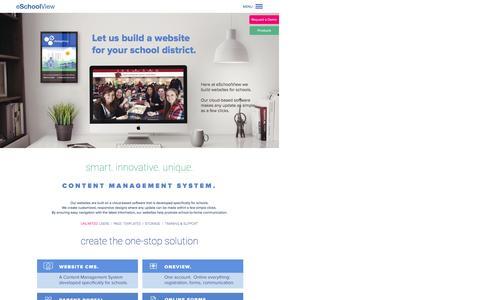 Screenshot of Menu Page eschoolview.com - School Website Design | Education Management Software | eSchoolView - captured Feb. 2, 2016
