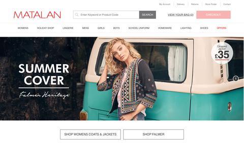 Screenshot of Home Page matalan.co.uk - Matalan - Womens, Mens, Kids & Homeware Online – Matalan - captured June 17, 2019