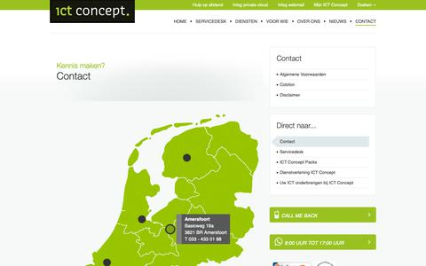 Screenshot of Contact Page ict-concept.nl - Contact | ICT Concept - captured Oct. 1, 2018
