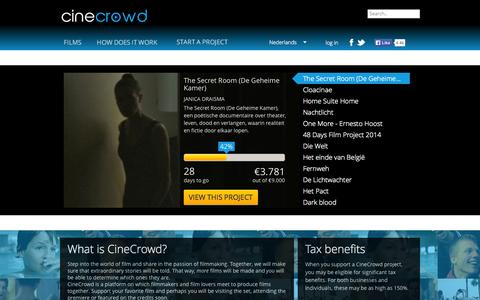 Screenshot of Home Page cinecrowd.nl - Home | Cinecrowd - captured Sept. 25, 2014