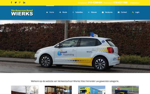 Screenshot of Home Page wierks.nl - Wierks Home - Verkeersschool Wierks Zuid-Holland - captured Aug. 14, 2015