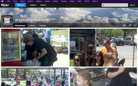 Screenshot of Flickr Page flickr.com - Flickr: angelafloydschools' Photostream - captured Oct. 23, 2014