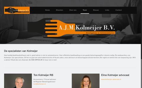 Screenshot of Team Page kolmeijer.nl - Kolmeijer - Team van personeel - captured Oct. 16, 2018