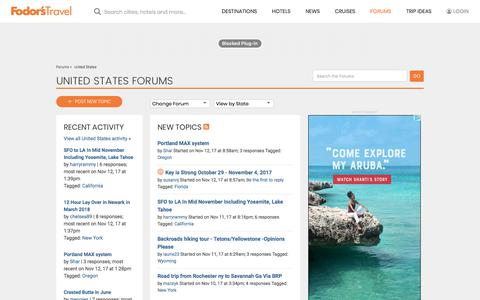 United States Forum | Fodor's Travel Talk Forums