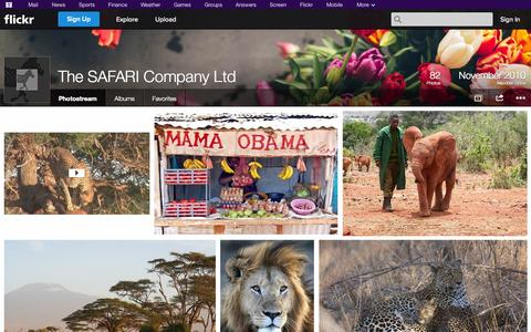 Screenshot of Flickr Page flickr.com - Flickr: The SAFARI Company Ltd's Photostream - captured Oct. 26, 2014