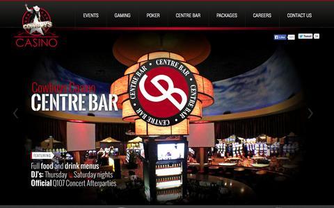 Screenshot of Home Page cowboyscasino.ca - Cowboys Casino   Calgary, Alberta - captured Sept. 30, 2014