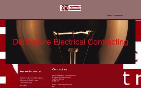 Screenshot of Contact Page derbyshire-electrical.co.uk - Derbyshire Electrical Contract - Contact Us - captured Nov. 24, 2016
