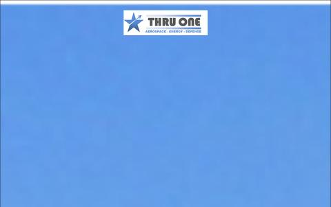 Screenshot of Home Page thruone.com - THRUONE GROUP - captured Oct. 9, 2014