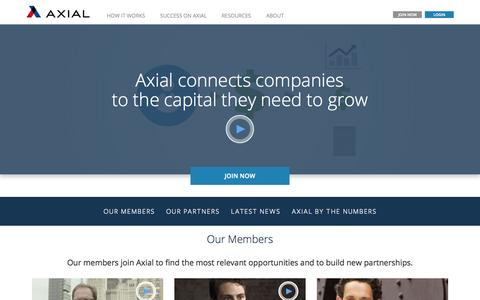 Screenshot of About Page axial.net - About Axial - captured Oct. 1, 2015
