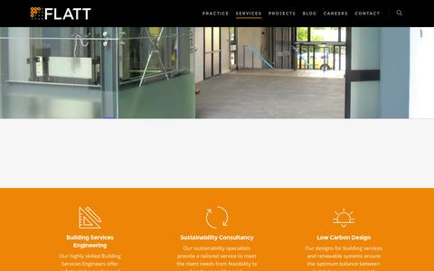 Screenshot of Services Page flattconsulting.com - Services - Flatt Consulting - captured Aug. 4, 2016