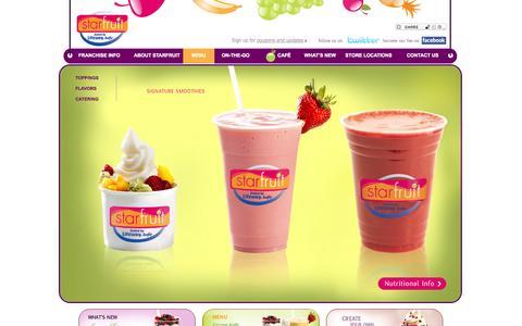 Screenshot of Menu Page starfruitcafe.com - Menu - captured Oct. 9, 2014