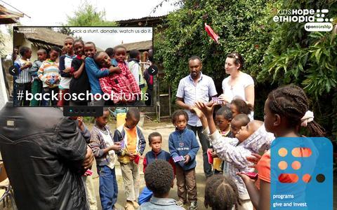 Screenshot of Home Page kidshopeethiopia.com - kids hope ethiopia - captured Sept. 30, 2014