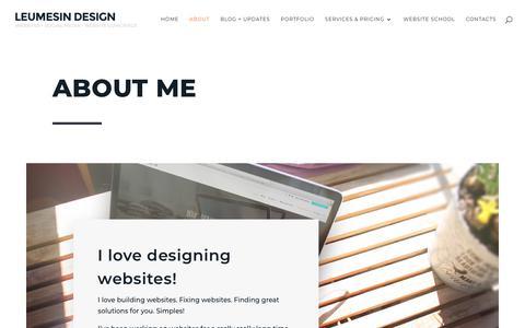 Screenshot of About Page leumesindesign.com.au - About Ellen Kronen and Leumesin Design - Website Design Services | Lismore, Ballina, Byron Bay, Casino, Far North Coast NSW - captured July 18, 2018