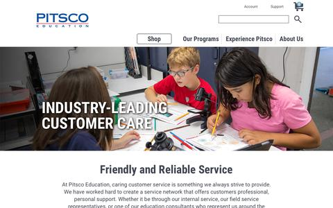 Pitsco Education | Industry Leading Service