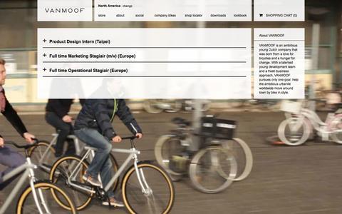 Screenshot of Jobs Page vanmoof.com - Jobs - VANMOOF Commuter Bicycles | OFFICIAL WEBSITE - captured Oct. 26, 2014