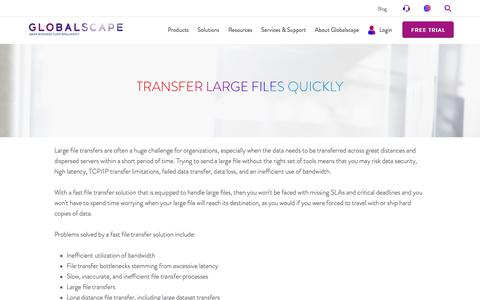 Transfer Large Files Quickly | Globalscape