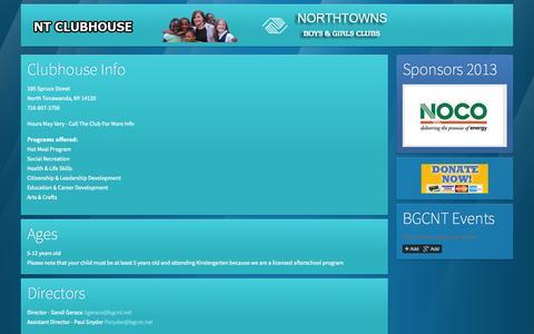 Screenshot of About Page bgcnt.net - About Us » Northtowns Boys & Girls Clubs | Buffalo , Tonawanda, North Tonawanda and Western New York - captured Oct. 5, 2014